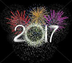 Fireworks For Happy New Year 2017 Stockowa ilustracja wektorowa 474644890 : Shutterstock Happy New Year Quotes, Quotes About New Year, Happy Year, New Year Wishes, New Year Greetings, Birthday Wishes, Birthday Cards, Happy 2017, New Year Images