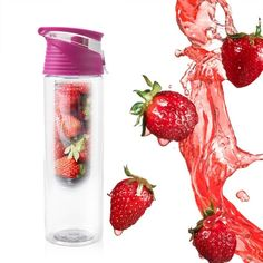 Fruit Detox Bottle - Emporium Pop - The Fruit Detox Bottle can also be used . - What We're Eating Infused Water Recipes, Fruit Infused Water, Infused Water Bottle, Fruit Water, Water Bottles, Fruit Pop, Fruit Infuser Bottle, Fruit Detox, Green Tea Detox