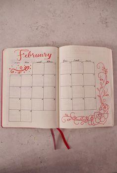 Bullet Journal: February 2017 Calendar