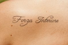 "it means ""inner strength"" in italian wannttttttt!!!!!!!!"""""