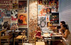 Red brick vintage posters