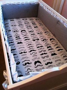 Hey, I found this really awesome Etsy listing at https://www.etsy.com/listing/159685106/fitted-mustache-crib-sheet