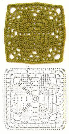 granny square crochet...could be hearts or a four leaf clover. ~ Free crochet patterns~