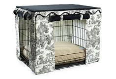 One Kings Lane - The Pet Shop - Toile Crate Cover (This is absolutely useless. My future pet must have it.)