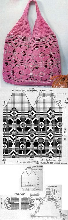 Marvelous Crochet A Shell Stitch Purse Bag Ideas. Wonderful Crochet A Shell Stitch Purse Bag Ideas. Crochet Market Bag, Crochet Tote, Crochet Handbags, Crochet Purses, Crochet Chart, Crochet Stitches, Crochet Patterns, Crochet Granny, Stitch Patterns