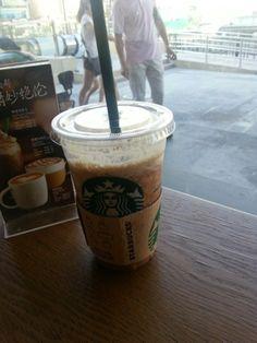 Starbucks coffee.Low fat mocha Frappuccino.Magical..........