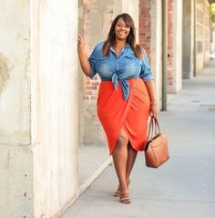 Fashion Look Featuring DAY Birger et Mikkelsen Plus Skirts and BP Duffels & Totes by trendycurvy - S Plus Size Fashion For Women, Plus Size Womens Clothing, Fashion Tips For Women, Clothes For Women, Big Girl Fashion, Curvy Fashion, Fashion Looks, Fall Fashion, Fashion Beauty