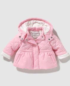 Parka de bebé niña Dulces acolchada en rosa