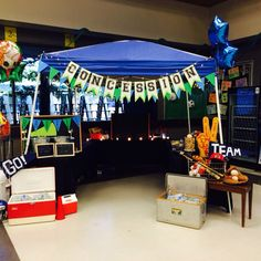Awesome tailgate concession stand for mother/son dance. Daddy Daughter Dance, Mommy And Son, Father Daughter Dance, Mom Son, Father And Son, School Events, School Parties, Dance Themes, Baseball Birthday Party