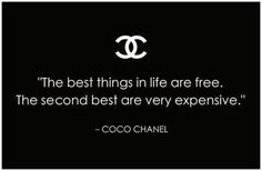 Chanel quotes are the best quotes. Great Quotes, Quotes To Live By, Me Quotes, Funny Quotes, Inspirational Quotes, Beauty Quotes, Second Best Quotes, Qoutes, Black Women Quotes