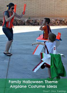 Family Halloween Theme: Airplane Costume Ideas