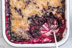 """""""Dump Cake"""". Layer ingredients and bake. No mixing required."""
