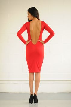 New womens ladies sexy low back long sleeve by Thedresscollections, £15.99