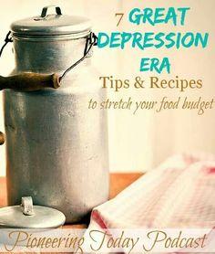 Depression Era Tips