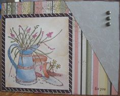 Striped Garden by - Cards and Paper Crafts at Splitcoaststampers Split Coast Stampers, Long Time Friends, Card Making, Greeting Cards, Sketches, Paper Crafts, Scrapbook, Gallery, Artist