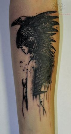 native american beautiful tattoos | Native Crow Tattoo On Arm