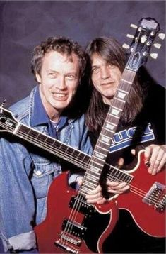 Brothers Angus and Malcolm Young of ACDC. Sadly, Malcolm passed away a couple of years ago!