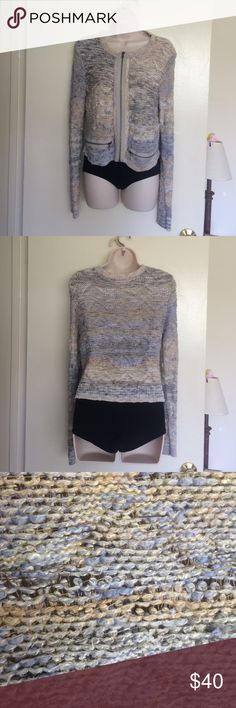 Free People 'Hearts Beep' Chunky Knit Sweater Gently pre-loved, no flaws! Cotton/Rayon/Nylon blend. Size large, but fits like a Small/Medium . Perfect for fall! Bundle for discounts! Reasonable offers considered. Thank you for shopping my closet! Free People Sweaters Cardigans