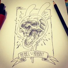 REBBEL RABBIT by squad core, via Behance
