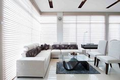 Architect Ireneo P. Roque builds a unique house with a neutral color palette and contemporary design elements Modern Bungalow House Design, Simple House Design, Modern House Philippines, Modern Family, Home And Family, Home Living Room, Living Area, Architectural House Plans, Dream House Interior