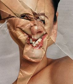 scrunch up a photocopy of a portrait and get students to reproduce the crumpled image