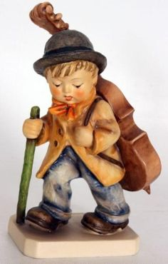 hummel figurines - Google Search Little Musician walking with his walking stick