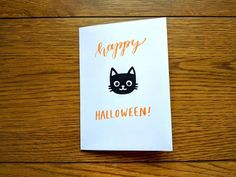 Set of 4 Halloween cards spooky cards scary card set Halloween Vinyl, Halloween Stickers, Halloween Cards, Happy Halloween, Halloween Greetings, Foam Crafts, Cat Face, Scary, Greeting Cards