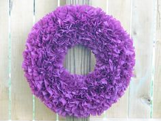 I will make in variable lavender to dark purple out of noodles and plastic table cloths from the party store!