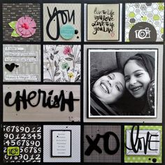 #papercraft #scrapbook #layout Cherish - Scrapbook.com - Made with American Crafts products.