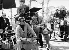 Robert Mulligan and Gregory Peck, To Kill a Mockingbird at camera set