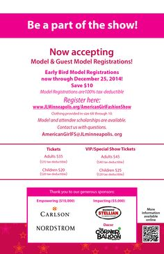 American Girl Fashion Show 2015 March 7 Registration now open