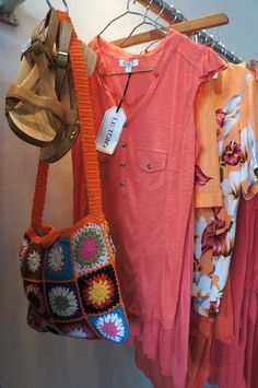 Weekend outfit!! look gorgeous in our coral colors, crochet bag & wooden sandals. Perfectly designed for you! #letoko