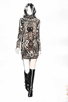 Fashion illustration for Emilio Pucci Fall 2014 // Konstantin Bridts