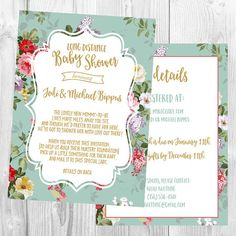 Long Distance Baby Shower Invitation
