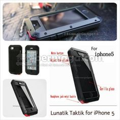 Lunatik Taktik with Gorilla Glass For iPhone5