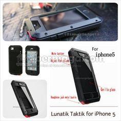 Lunatik Taktik with Gorilla Glass For iPhone5
