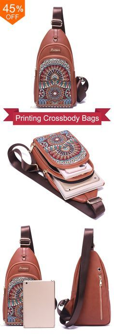Brenice Vintage Embroidery Chest Bags National Printing Crossbody Bags. #fashion #style #ideas