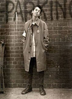 """A young MCA/ coolnezz, looked like he was doing hiz best """"Sid"""" Vicious impersonation..."""
