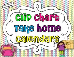 Clip Chart Take Home Calendars