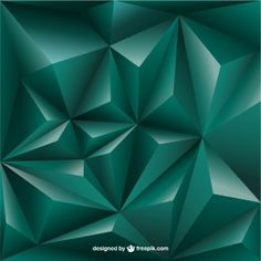 3D Green background with triangle