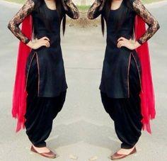 black patiala salwar suit