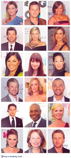 Such an amazing cast <3 Grey's Anatomy, Mr. Grey is not there. I got clued to Scandal bc of Grey's cast & Private Practice.