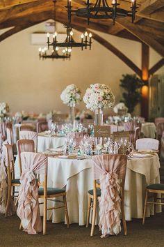 Ruffled Chair Covers | Pretty English Wedding | Steve Gerrard Photography | Bridal Musings Wedding Blog