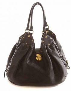 Authentic Louis Vuitton Black Mahina XL