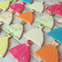 """Lots of colorful dresses for a bridal shower! #bridalshower #wedding #weddingdress #pretty #bride #customcookies #decoratedcookies #decoratedsugarcookies #sugarcookies #bananabakery"" Photo taken by @bananabakery_cookies on Instagram, pinned via the InstaPin iOS App! http://www.instapinapp.com (07/12/2015)"