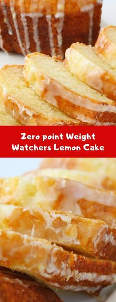 """This Weight Watchers Lemon Pound Cake is always given """"two thumbs up"""" by everyone who tastes it! I love that it's a simple recipe, and even better news this Weight Watchers Lemon Pound Cake is Weight Watchers Kuchen, Points Weight Watchers, Weight Watchers Desserts, Weight Watcher Recipes, Healthy Recipes, Skinny Recipes, Ww Recipes, Gourmet Recipes, Healthy Meals"""
