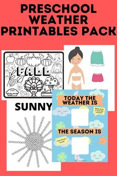 Teach your preschoolers all about the weather with these easy, fun, and engaging weather and seasons printables, dress for the weather, color the seasons, q-tip painting templates for all the seasons and different weather, discuss the weather everyday with pictures, preschool worksheets, preschool activities, preschool crafts, preschool fun, learning activities, learning printables, weather printables, this is my product Preschool Weather, Weather Activities, Preschool Learning Activities, Preschool Worksheets, Toddler Activities, Preschool Activities, Fun Learning, Q Tip Painting, Easy Toddler Crafts