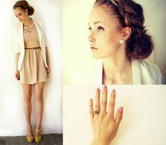 Dress, Blazer, Shoes, Ring, Earring