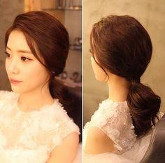 Wedding Hair And Makeup, Bridal Makeup, Hair Makeup, Hairdo Wedding, Bridal Updo, Hair Style Korea, Bride Hairstyles, Cool Hairstyles, Asian Makeup