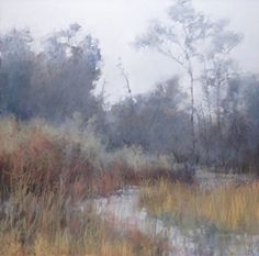 Southern Spring von Lyn Asselta, Pastell, 24 x 24 - Malerei Kunst Pastel Landscape, Landscape Artwork, Watercolor Landscape, Abstract Landscape, Watercolor Art, Soft Pastel Art, Chalk Pastel Art, Pastel Artwork, Soft Pastels